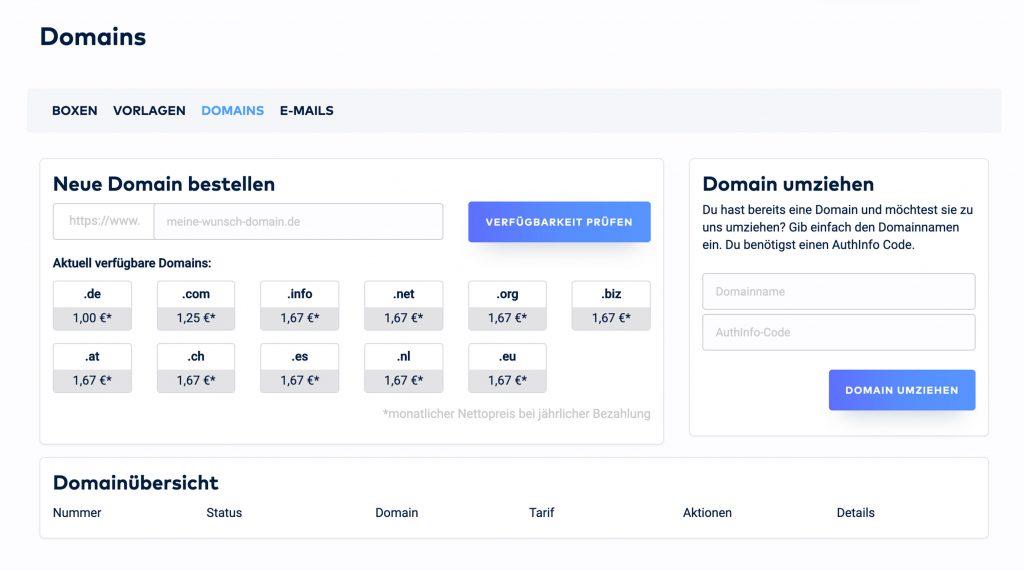 raidboxes wordpress hosting dashboard