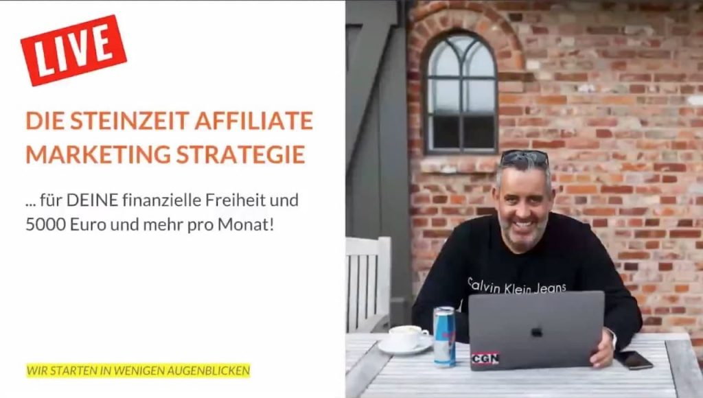Gratis Webinar: Die Steinzeit Affiliate-Marketing Strategie von Ralf Schmitz