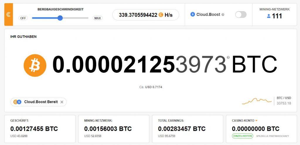 CryptoTab Einnahmen